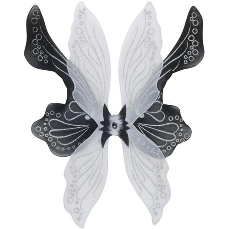 Star Power Magical & Mysterious Fairy Wings, Black White, One Size (28