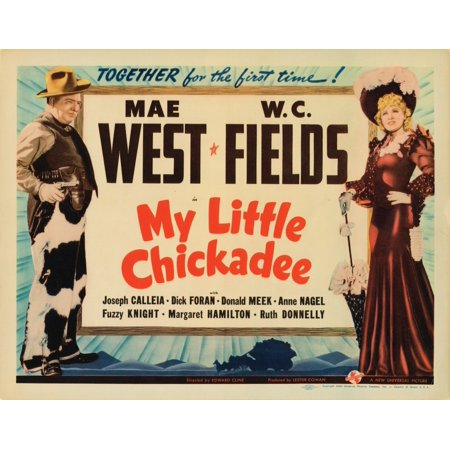My Little Chickadee Lobbycard From Left WC Fields Mae West 1940 Movie Poster Masterprint