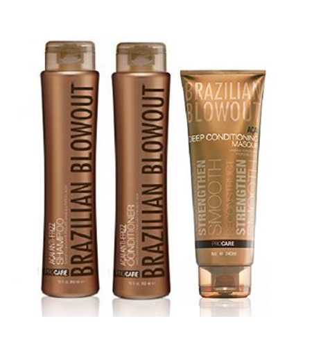 Brazilian Blowout Anti Frizz Shampoo & Conditioner Duo with Deep Conditioning Masque, 3 Piece Set