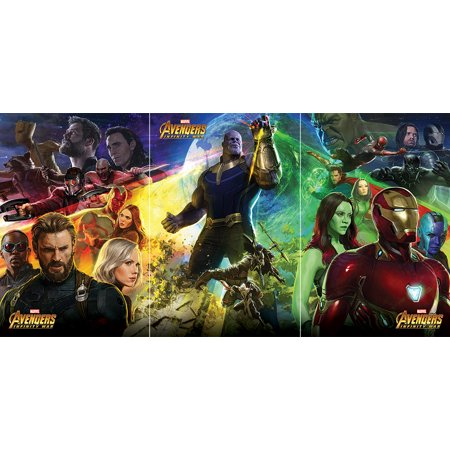 - Avengers: Infinity War - 3 Piece Movie Poster Set (Triptych - 3 Individual Posters Make 1 Large Design) (Size: 24