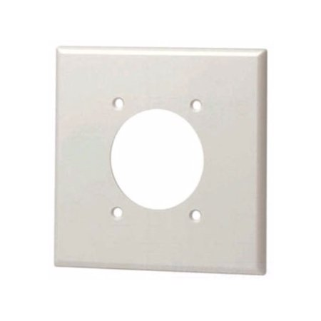 Leviton 80726 2-Gang Flush Mount 2.15-Inch Diameter Device Receptacle Wallplate, Brown