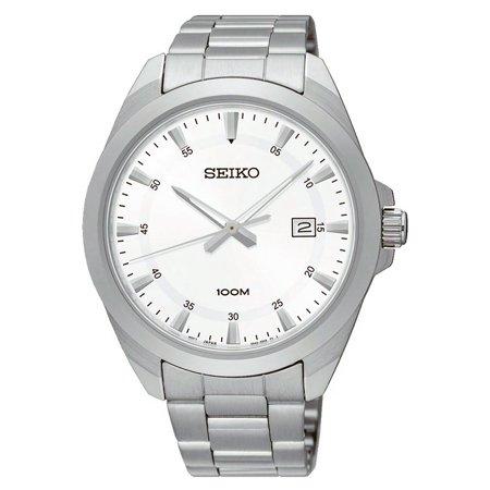 SUR205P1,Men's dress,clear dial,Stainless Steel Case and bracelet,Hardlex Crystal,date,100m WR,SUR205