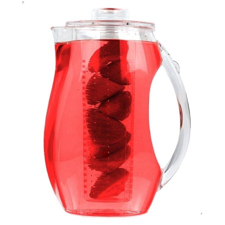 Estilo Acrylic Fruit Infusion Pitcher with Ice Core, Clear, 2