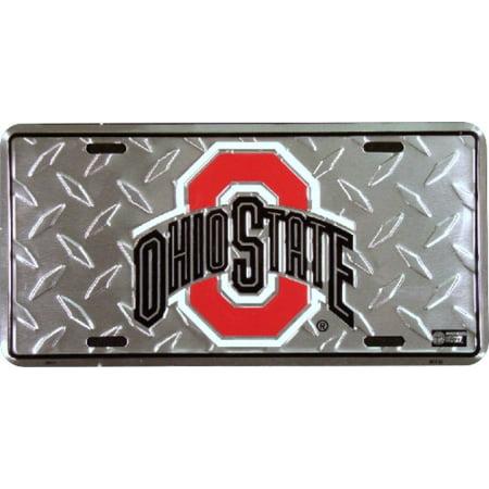 Ohio State Diamond Embossed License Plate