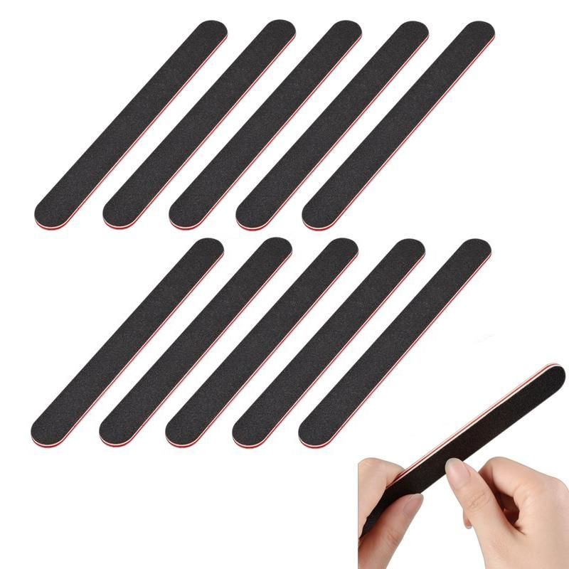 Zodaca Lot 10x Nail Files Buffing Crescent Grit Sandpaper For Nail Art Tips Manicure