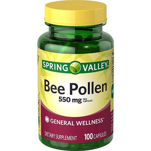 Spring Valley Bee Pollen Capsules, 550 mg, 100 count