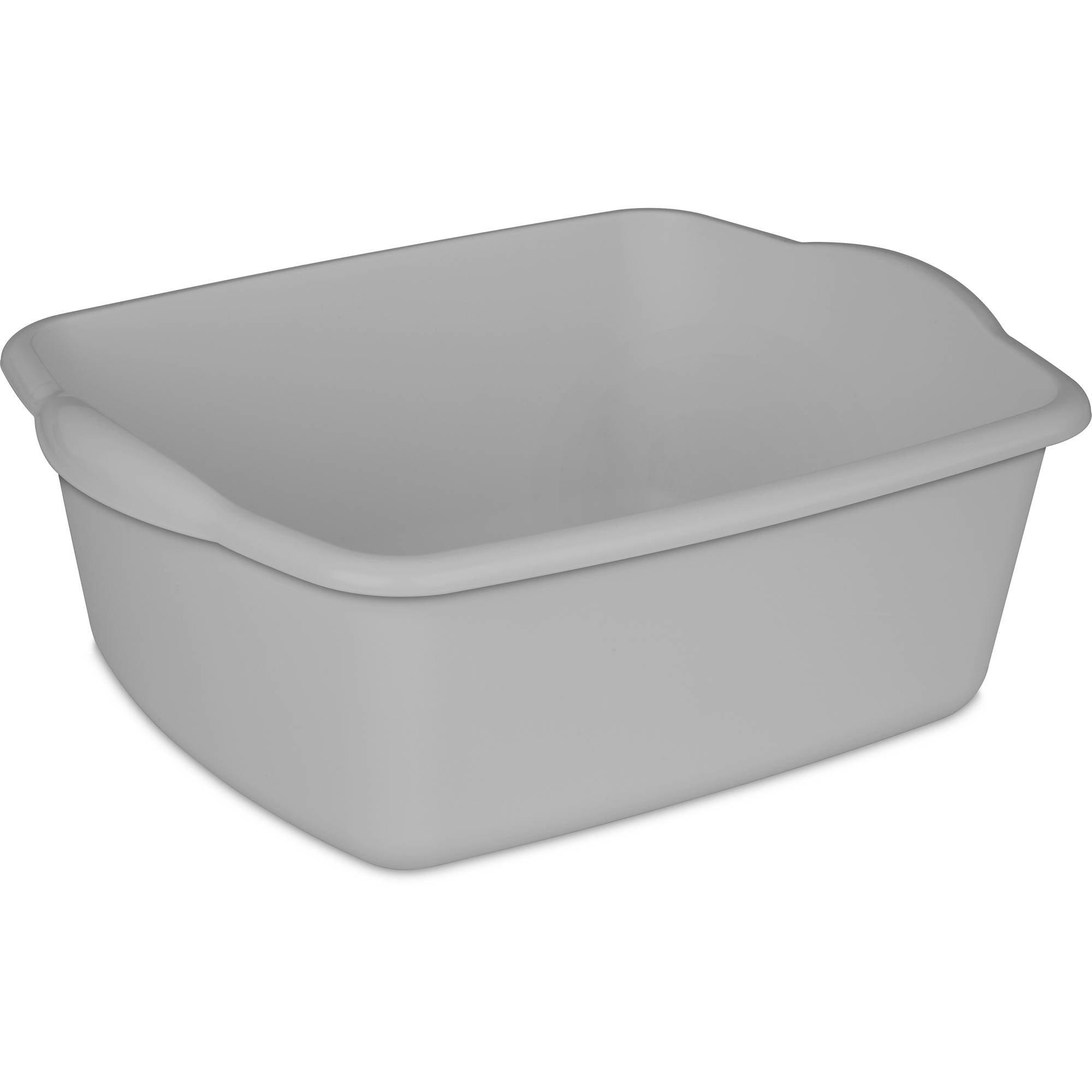 White Rubbermaid Antimicrobial Dish Bucket 15.6-Quart