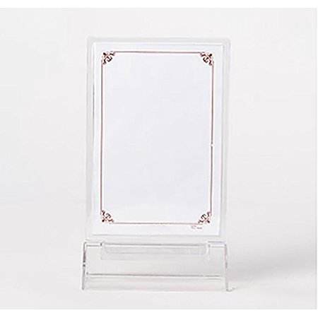 Double Sided Clear Acrylic Sign Holder With T Shaped Base Ad Frame