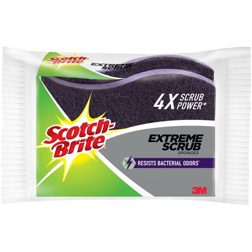Scotch-Brite Extreme Scrub Sponges, 2 count