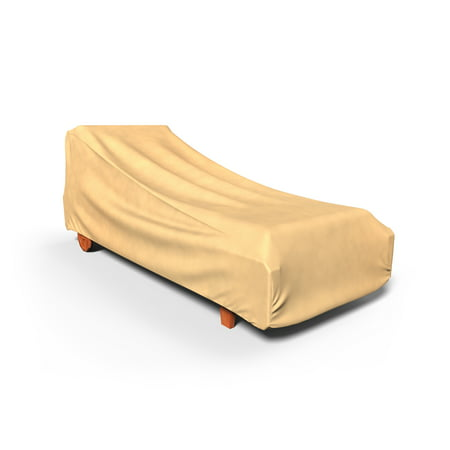 Budge Medium Nutmeg Patio Outdoor Chaise Cover, All-Seasons