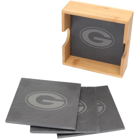 Green Bay Packers 4-Pack Slate Square Coaster Set - No Size
