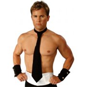 Alexanders Costumes 27-054-R Long Tie And Cuff Set, Red - New Item