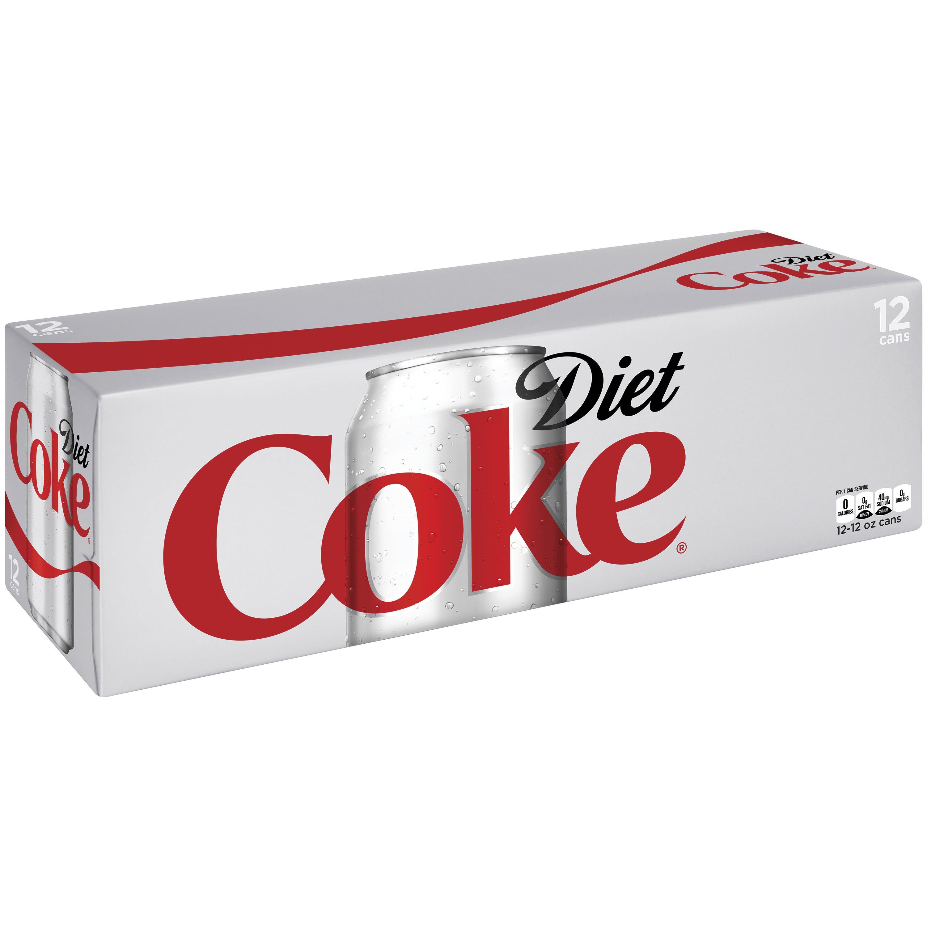 Diet Coca-Cola Diet Soda, 12 Fl Oz, 12 Count