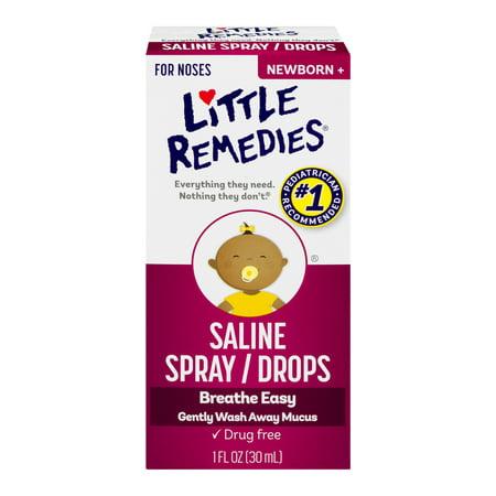 (2 pack) Little Remedies Saline Spray/Drops Newborn, 1.0 FL (Home Remedies For Bad Taste In Mouth)