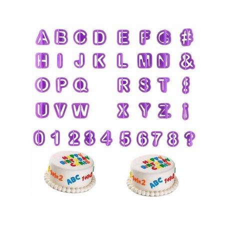Garden Cake - VICOODA Numeric Alphabet Plastic Cookie Mould Fondant Cake Decoration Home Garden Kitchen Dining Baking Utensils