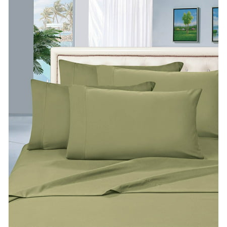 Celine Linen 1500 Thread Count Egyptian Quality 6 Piece Wrinkle Resistant Sheet Set,California King, Green