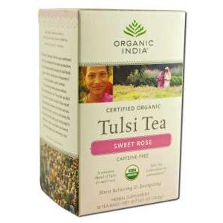 Organic India Tulsi Tea (Tulsi Tea Sweet Rose Tea Organic India 18 Tea)