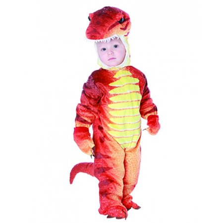Red Dinosaur Jurassic Baby Animal Toddler Halloween Costume (Baby Skunk Halloween Costume Pattern)