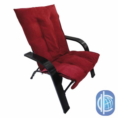International Caravan Indoor/ Outdoor Folding Chair with Wooden Arms and Microsuede Cover Sage