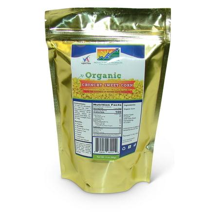 Organic Crunchy Sweet Corn, 2 full cup Mylar Bag (Green Corn)
