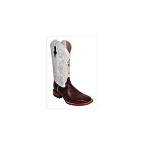 Ferrini 1109309115D Mens Cowhide Square Toe Boots, Chocolate And White, 11. 5D by
