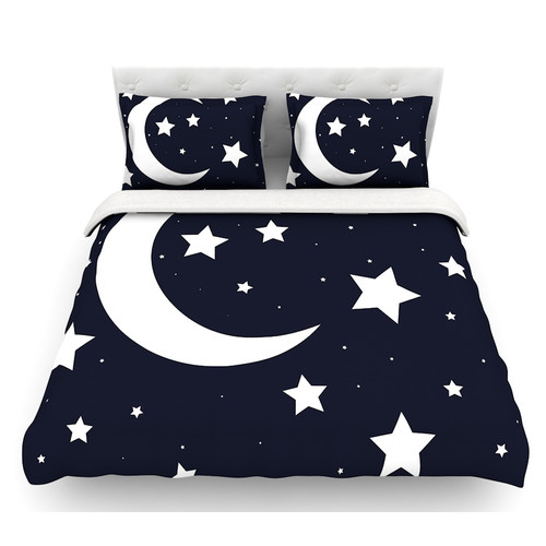 East Urban Home Moon and Stars  Featherweight Duvet Cover