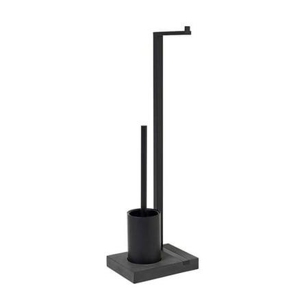 Blomus 69151 Menoto Black Titanium Coated Toilet Butler Paper Holder & (Blomus Menoto Toilet Paper Holder And Brush)