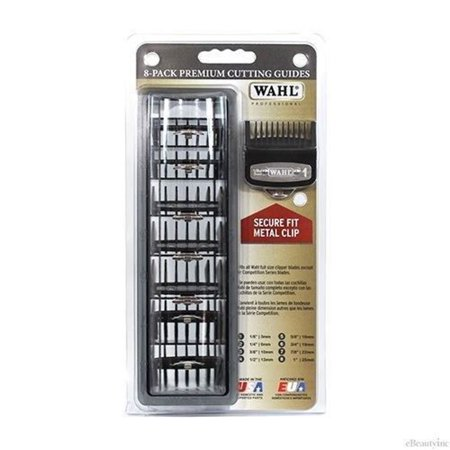 Wahl Professional Cutting Hair Clipper Premium Guides Caddy Combs Guards 8