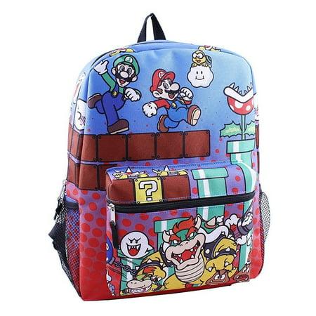 3195982e665e Nintendo - Backpack - - Super Mario Brothers 16 School Bag New 415241 -  Walmart.com