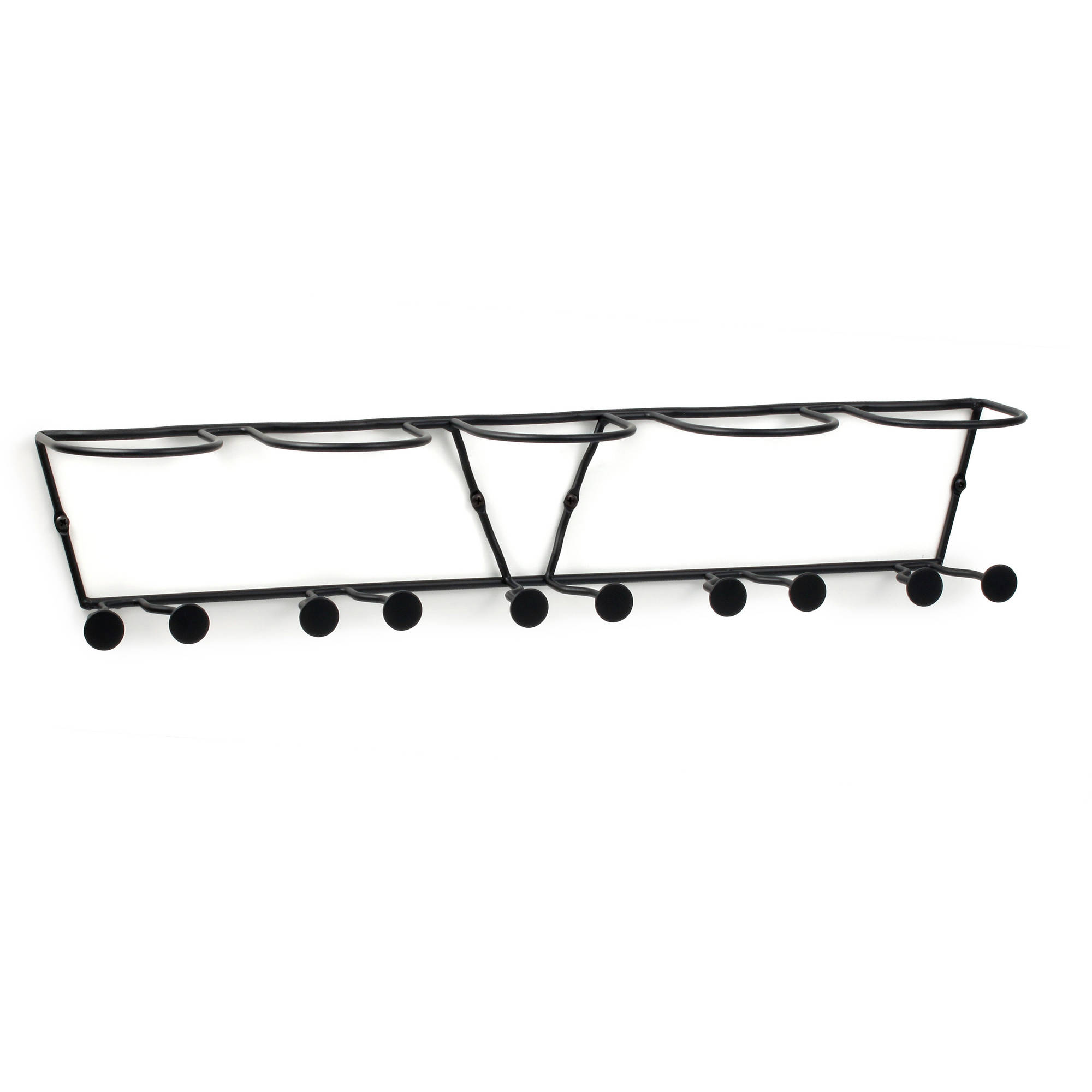 horizontal wall mount 5bottle wine rack black