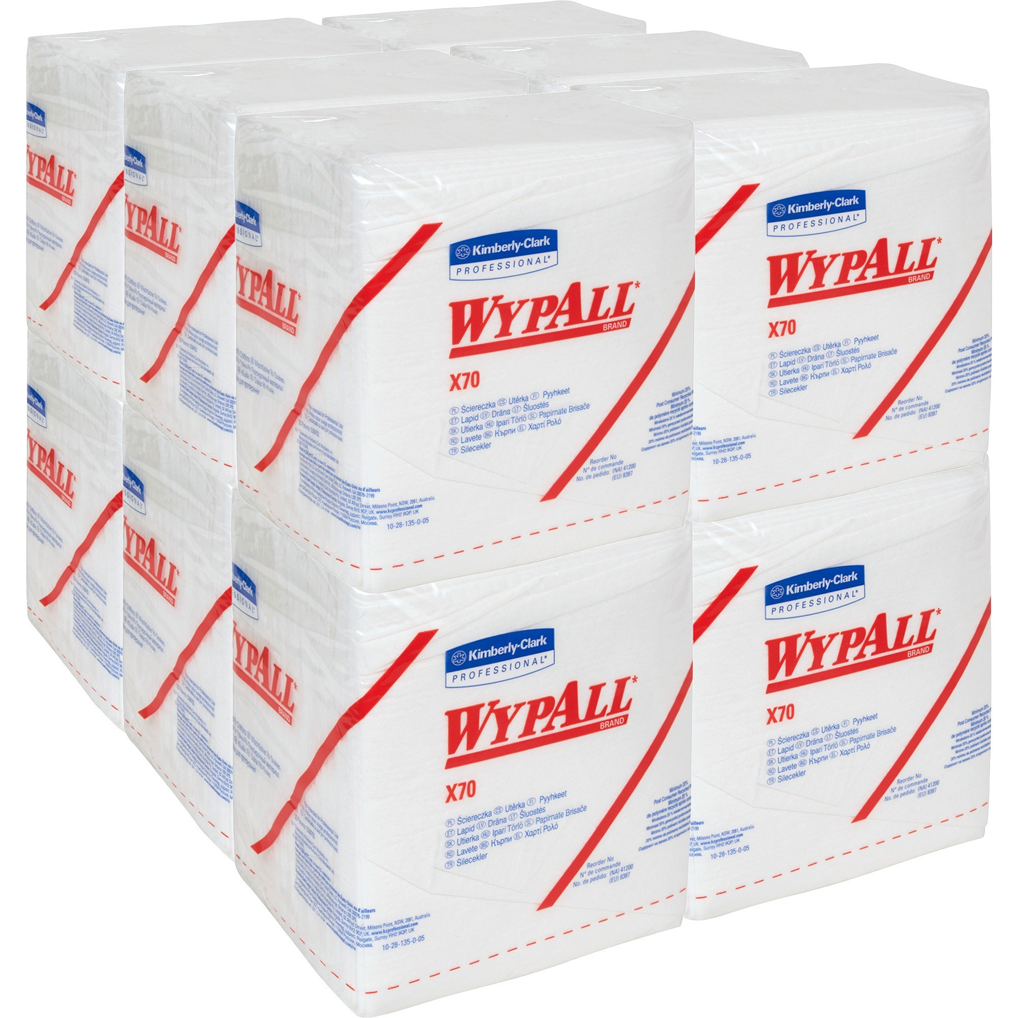 Wypall, KCC41200, X70 Wipers, 12 / Carton, White