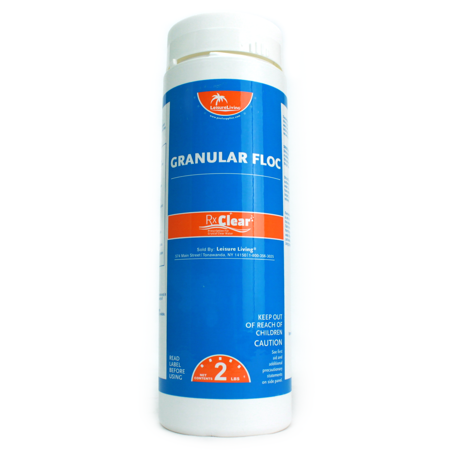 2 Pack-Rx Clear Swimming Pool Super Floc Clarifier Chemical - 2 lbs