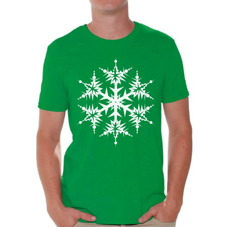 Awkward Styles Snowflake Shirt Christmas Tshirts for Men Snowflake Men's Holiday Tee for Christmas White Christmas Snowflake T-shirt Xmas Party Men's Holiday Top Snowflake Christmas Gift Idea - Sweet 16 Menu Ideas