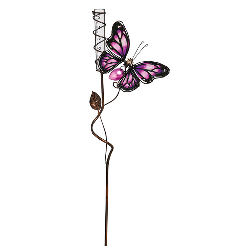 Evergreen Enterprises, Inc Cotter Butterfly Rain Gauge Rose Garden Stake by Evergreen Enterprises, Inc