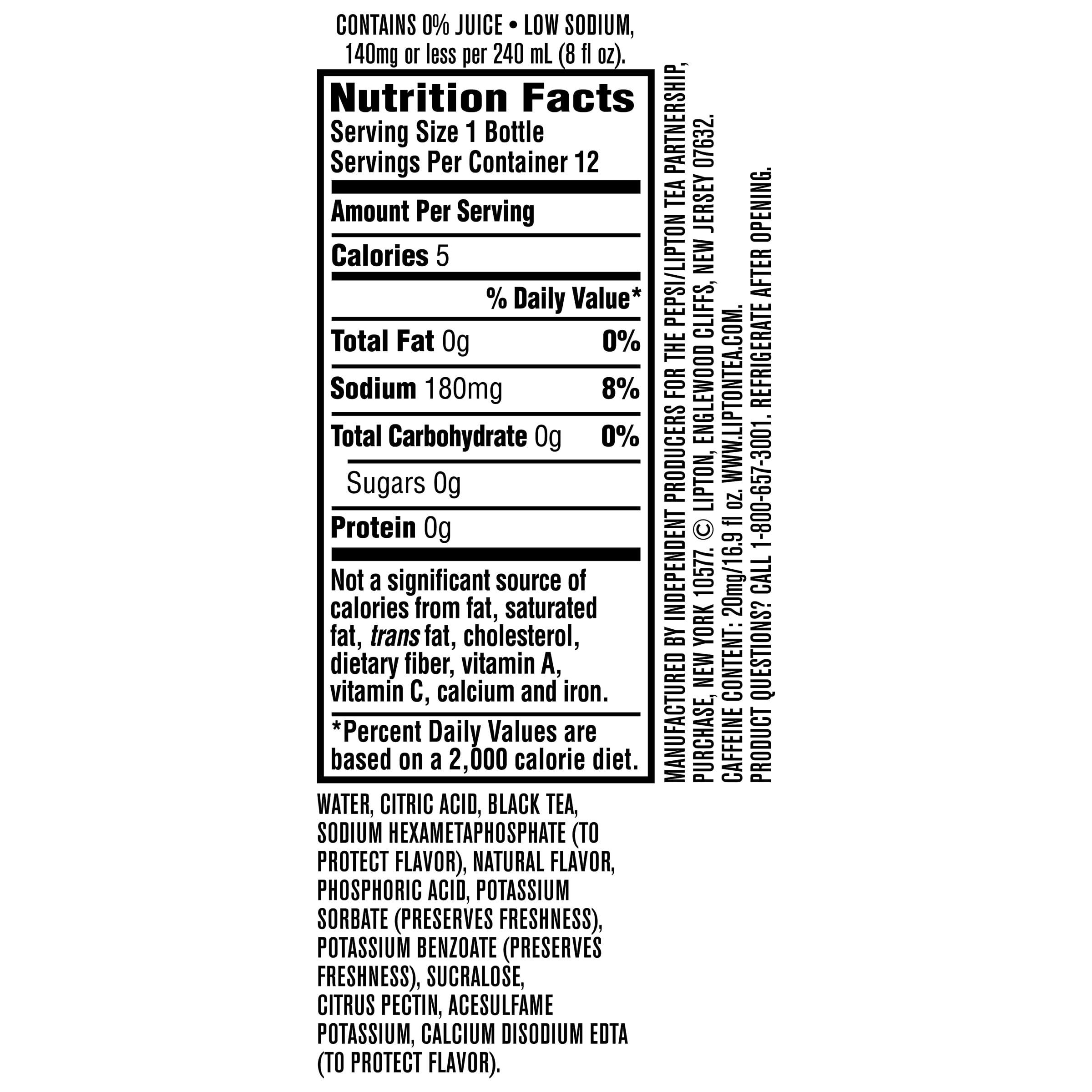 Lipton Diet Iced Tea With Lemon, 16.9