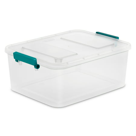 Sterilite 3.1 Gallon Clear Modular Latch Box, 2 Piece