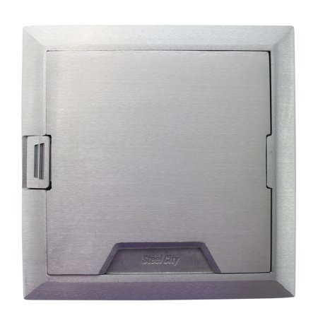 Thomas and Betts 665-CST-SW-ALM Floor Box Cover, For 665 and AFM4 Series, Aluminum