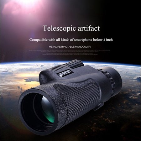 16x52 Dual Focus HD Optics Zoom Monocular Telescope Waterproof Day Night Vision Binocular For Camping Hunting Hiking Bird Watching Sightseeing