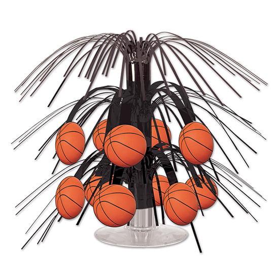 Beistle 54586 Basketball Mini Cascade Centerpiece, Pack Of 12