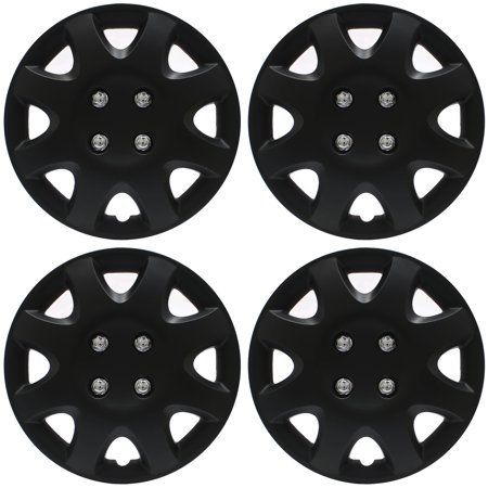Cover Trend  Set Of 4   Aftermarket Honda Civic Replica  14  Black Matte Hub Caps Wheel Covers