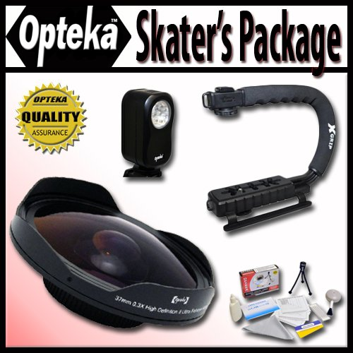 Opteka Deluxe Skaters Package with OPT-SC37FE 0.3X Ultra ...