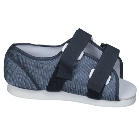 Foot Gloves Shoes - DMI Walking Boot for Stress Fracture and Broken Foot, Medical Shoes for Foot Support and Injuries, Mesh Post-Op Surgical Shoes for Men, Blue Orthopedic Cast Boot, Medium, 9 to 11
