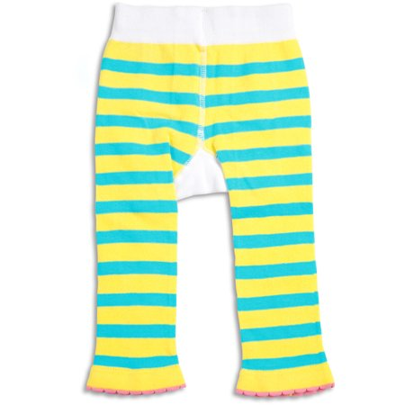 Pavilion Gift Company Pavilion Beach Baby Shell Yellow Striped 6 12 Month Baby Leggings Walmart Com
