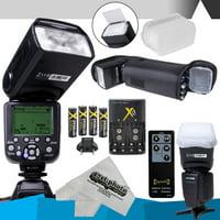 DigitalMate DM680 E-TTL Flash Kit for CANON DSLR Rebel D5, D4s, D4, D3x, Df, D810, D800, D750, D610, D500, D7500, D7200, D7100, D5600, D5500, D5300, D5200, D5100, D3400, D3300 Digital SLR Cameras