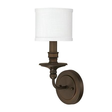 - Capital Lighting Midtown Burnished Bronze 1 Light Sconce