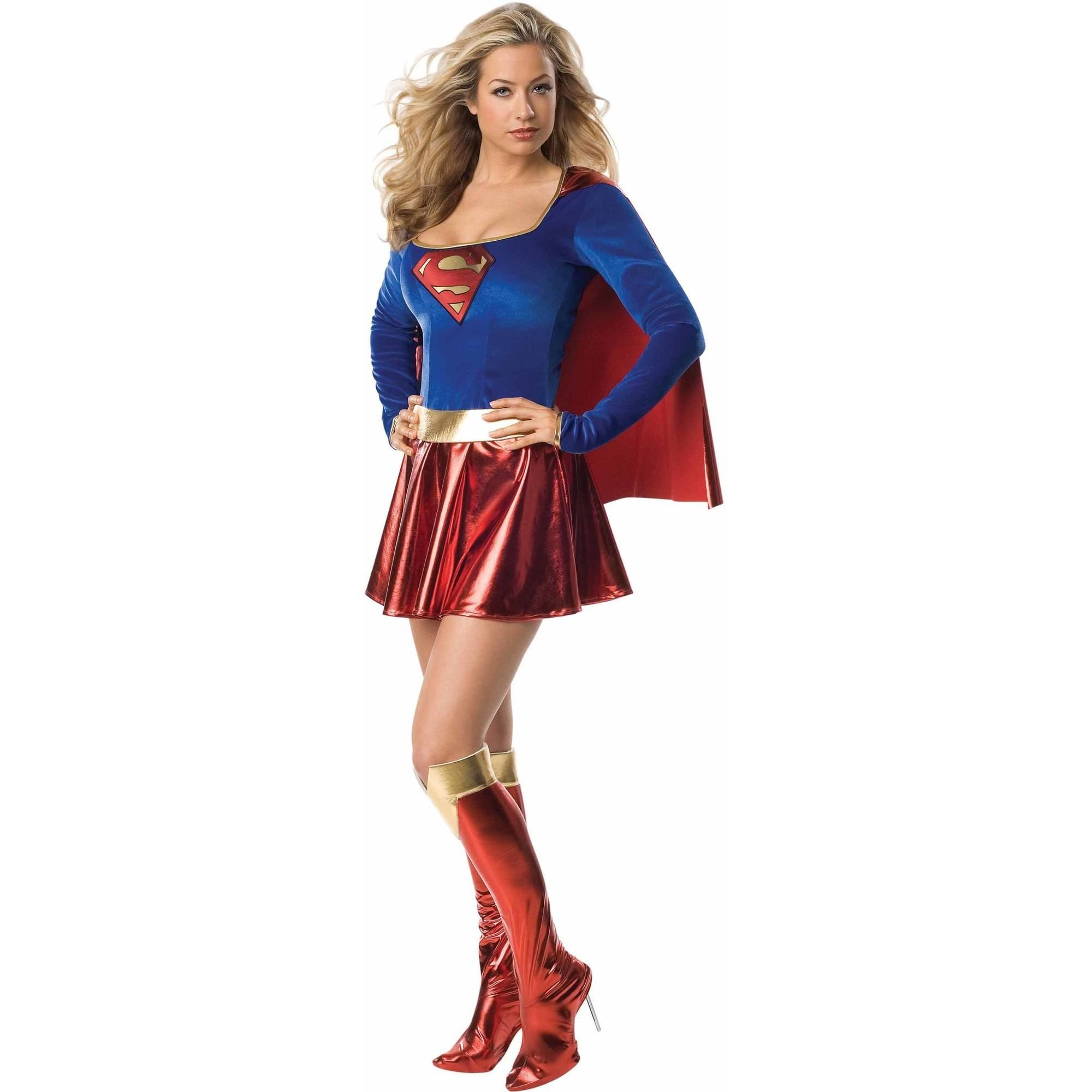 Deluxe Supergirl Adult Costume, Small (4-6)