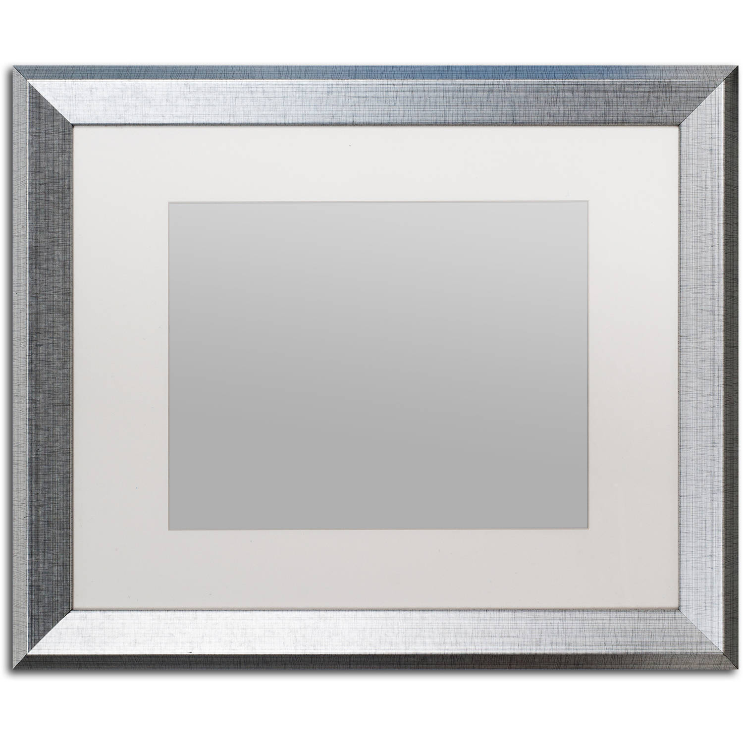 Trademark Fine Art Heavy-Duty 16x20 Silver Picture Frame with 11x14 White Mat