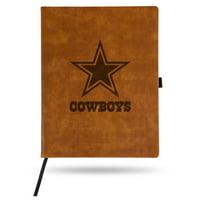 Dallas Cowboys Sparo Laser Engraved Large Notepad - Brown