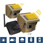 TOGUARD Solar Wireless Driveway Alarm Security Alert System Outdoor Motion Sensor Detector Monitor Protect Outside