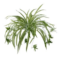 2 Pack Artificial Flowers Spider Plants Fake Silk Plant Faux Greenery Artificial Plants Home Wall Indoor Outdside(Not Include Hanging Basket)